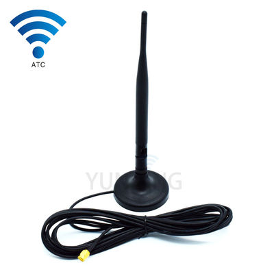 China GSM WIFI 3G 4G LTE Dual Band High Gain Antenna 9dbi Spring Wifi With Sma Male supplier