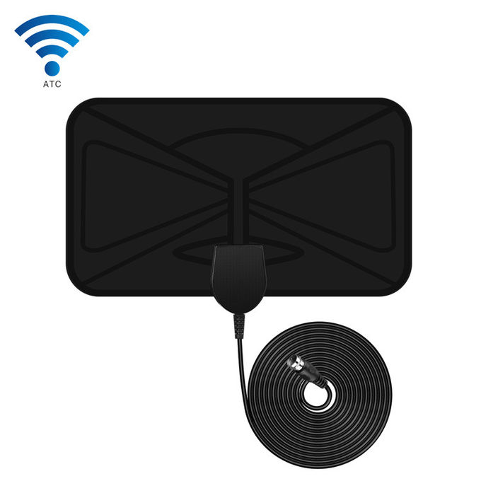 1080P 120 Miles Indoor Digital HD Television Antennas 28dBi Gain With Amplifier