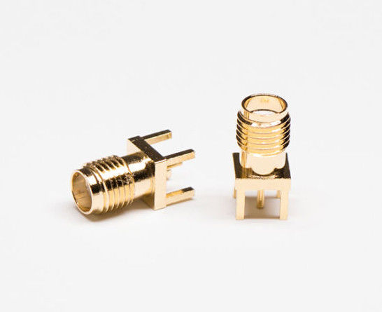 180 Degree DIP PCB RF Coaxial Connector SMA RF Connector Kit Brass Material
